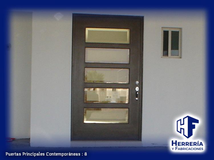 Herrer a y fabricaciones for Fotos de puertas metalicas modernas