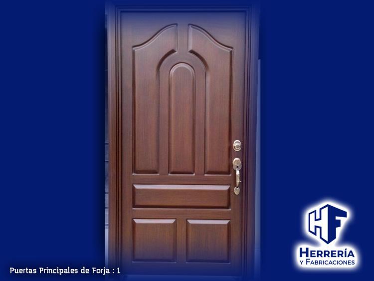 Puertas de herreria conozca la variedad de nuestras for Puertas de herreria para entrada principal