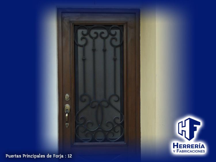 Herrer a y fabricaciones for Puertas principales de forja