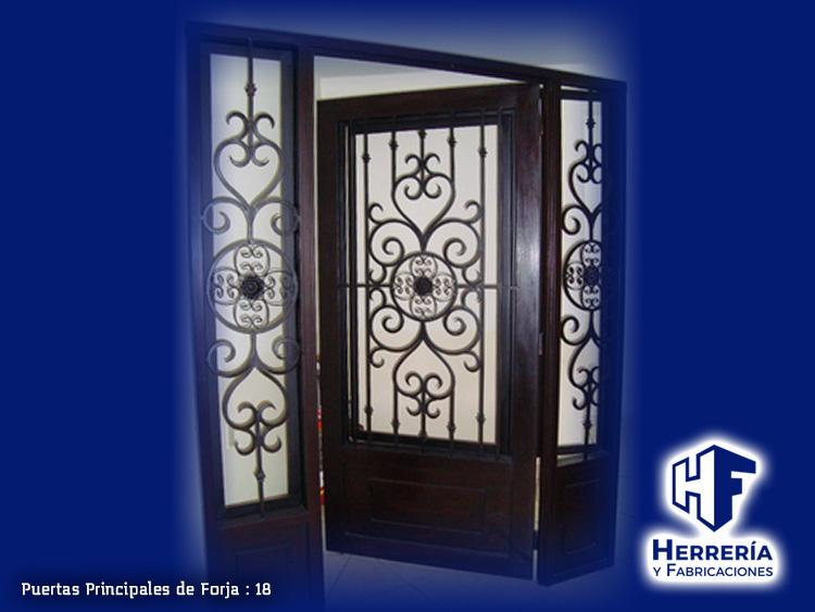 Puertas con forja amazing puerta principal de forja with for Puertas principales de forja