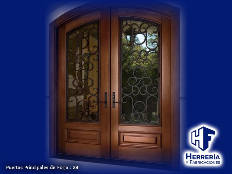 Herrer a y fabricaciones for Puertas principales de herreria elegantes