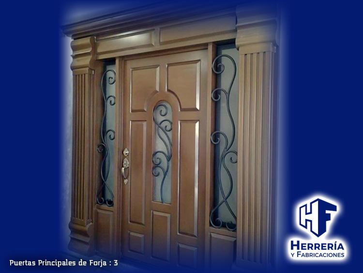 Puerta para entrada principal de lujo en herreria for Puertas principales de herreria casas